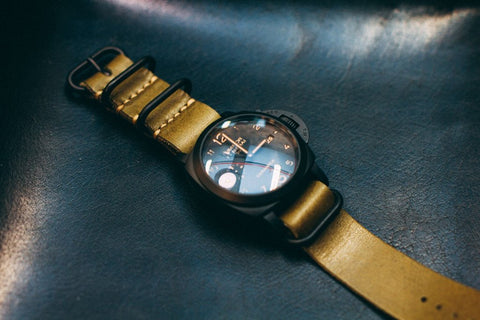 Shell Cordovan 5-Ring Zulu Watch Strap
