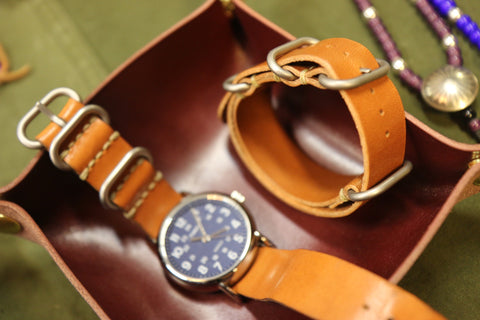 Leather 3-Ring Zulu Watch Strap