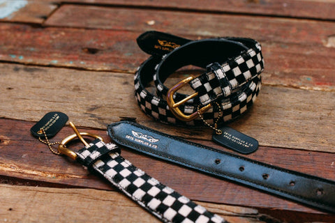 Leopard & Checkerboard Ponyhair Belt