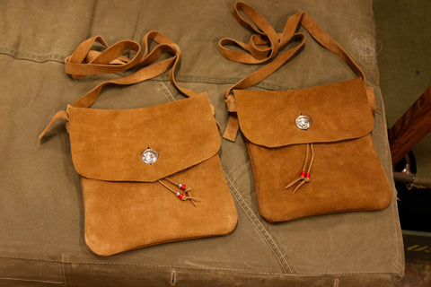 Medicine Bag (Vegetable tanned suede)