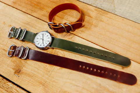Shell Cordovan 3-Ring Zulu Watch Strap