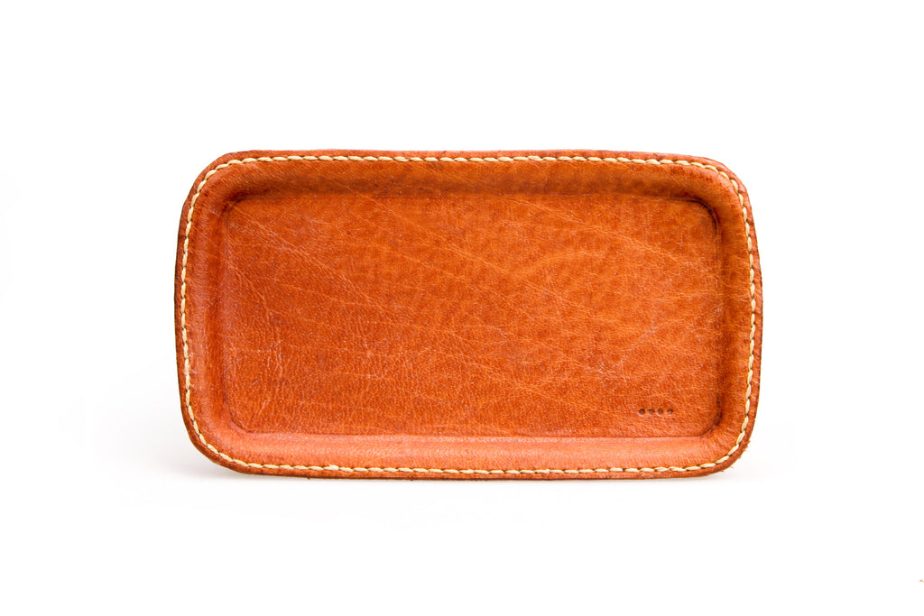 Leather Cash Tray - Tan