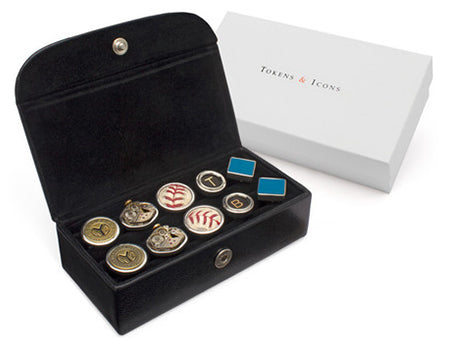 5 pair Cuff Links Case