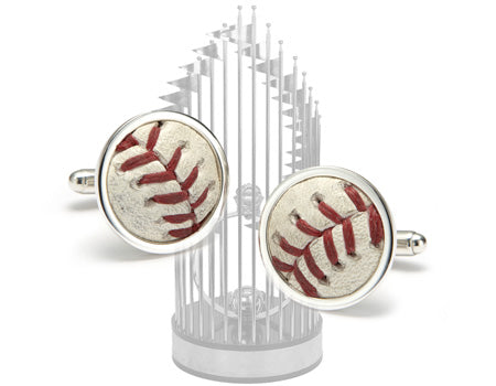 World Series Baseball Cuff Links