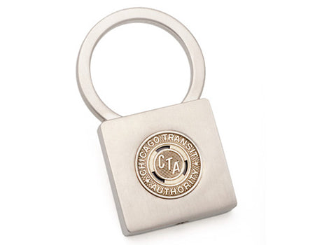 Chicago Transit Token Lock Key Ring
