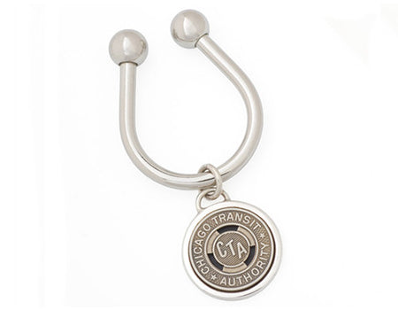 Chicago Transit Token Horseshoe Key Ring