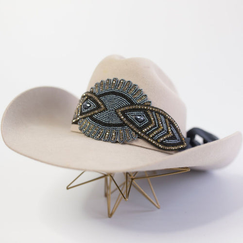 The Cheyenne Hat Wrap (Charcoal)