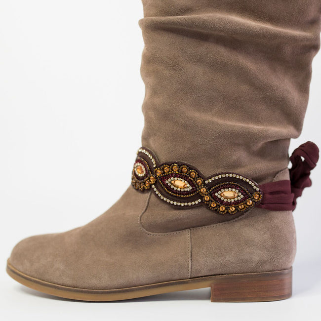 The Baton Rouge Boot Wrap (Burgundy)
