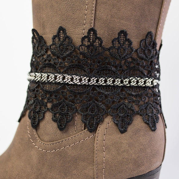 Louisville Lace Boot Accessory (Black)