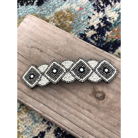 Shiloh Hand Beaded Barrette