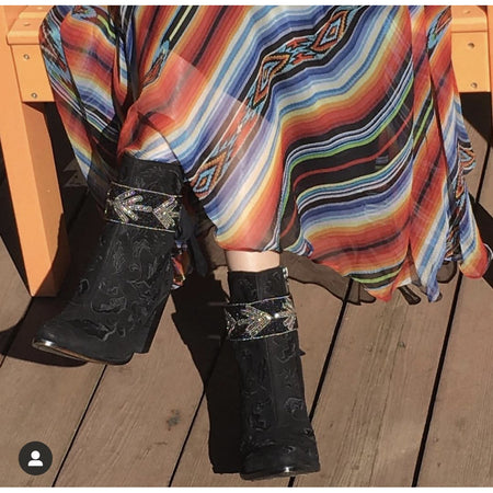 The Cheyenne Boot Wraps (Charcoal)