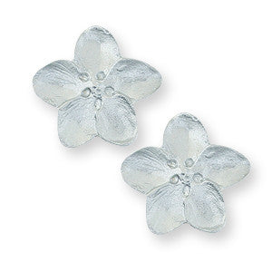Post Earrings: Apple Blossom Hand Crafted Pewter