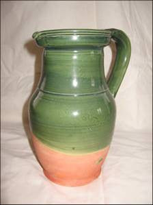 Saintonge Pottery: Pitcher Small