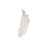 Charm: Feather Hand Crafted Pewter