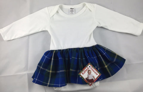 Onesie: Infant Long Sleeve Kilted NS Tartan