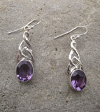 Amethyst Celtic Earrings: E603