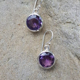 Amethyst Round Earrings: E515