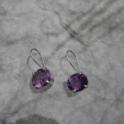 Amethyst SS Earrings: E61
