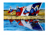 Print: Celebrations Acadian Dancers by Artist Nadine Belliveau
