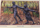 Postcard: CPGP01 Grand-Pré with Sculpture of Family