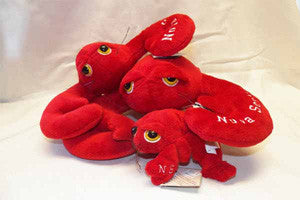 "Cuddle Toy: 400400 6"" Plush Lobster NS writing and Droopy Eyes"