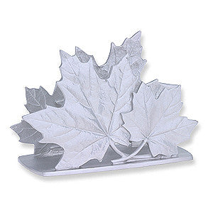 Napkin Holder: Maple Leaf Hand Crafted Pewter