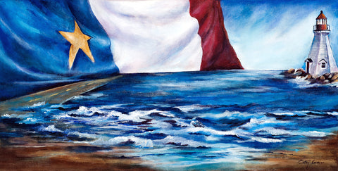 Reproduction Sur Toile on Canvas: Chez Nous en Acadie