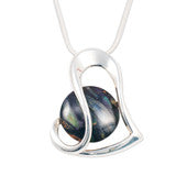 Heart Pendant: Heather Gems