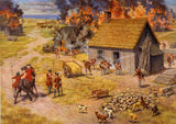 Postcard: Claude Picard Settlements are Burned 1755