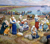Postcard: Claude Picard Ships take Acadians into Exile 1755