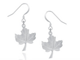 Drop Earrings: Maple Leaf Handcrafted Pewter