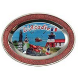 Magnet: Mini Plate with Acadie Scene