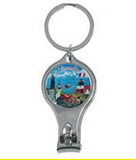 Keychain n Nail Clipper: 4 in 1 with Acadie Scenes