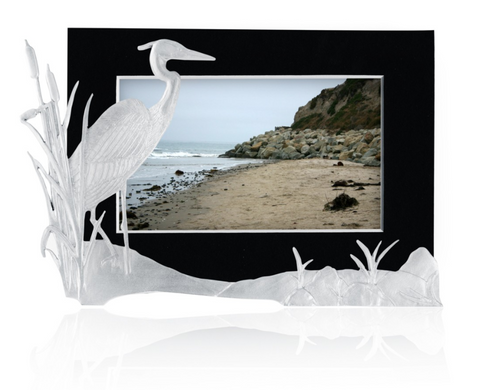 Picture Holder: Blue Heron Handcrafted Pewter