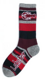 Cotton Socks: Lobster Mountain Stripe