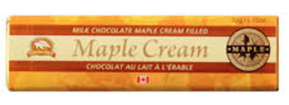 Chocolate Bar: Milk 50g Maple Cream Filled Chocolate