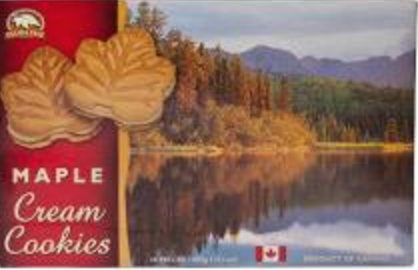Cookies: 400g Box Maple Cream Original Atlantic Scenes