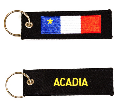 Keychain: Acadian Flag Embroidered