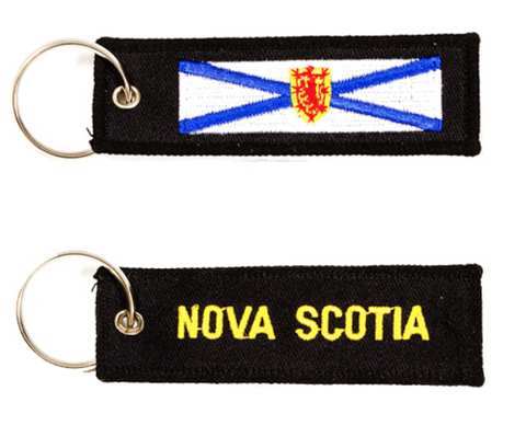 Keychain: Nova Scotia Embroidered