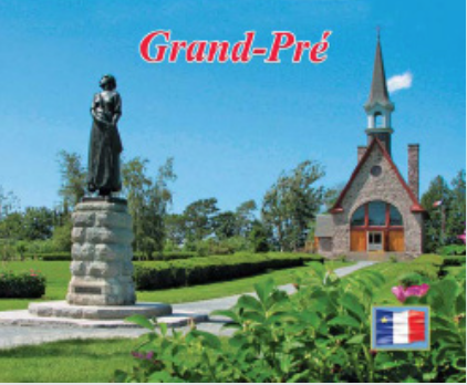 Magnet: MGP07 Grand-Pré Church and Evangeline
