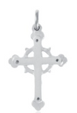 Charm: Acadian Cross Hand Crafted Pewter