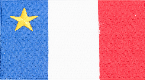 Embroidered Patch: Acadian Flag