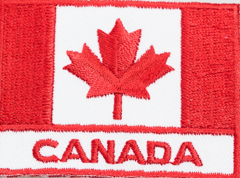 Embroidered Patch: Canada Flag with Canada Writing
