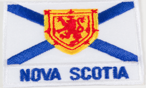 Embroidered Patch: NS Flag and Writing