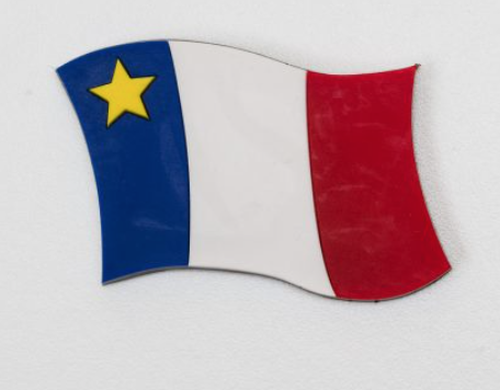 Magnet: Acadian Floating Flag