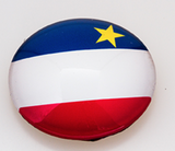 Magnet: Round Acadian Flag