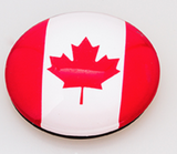 Magnet: Round Canadian Flag
