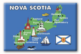 Magnet: Nova Scotia Map with Icons