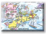 Magnet: Nova Scotia Scenic Map