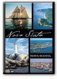 Magnet: Nova Scotia Collage w black borders